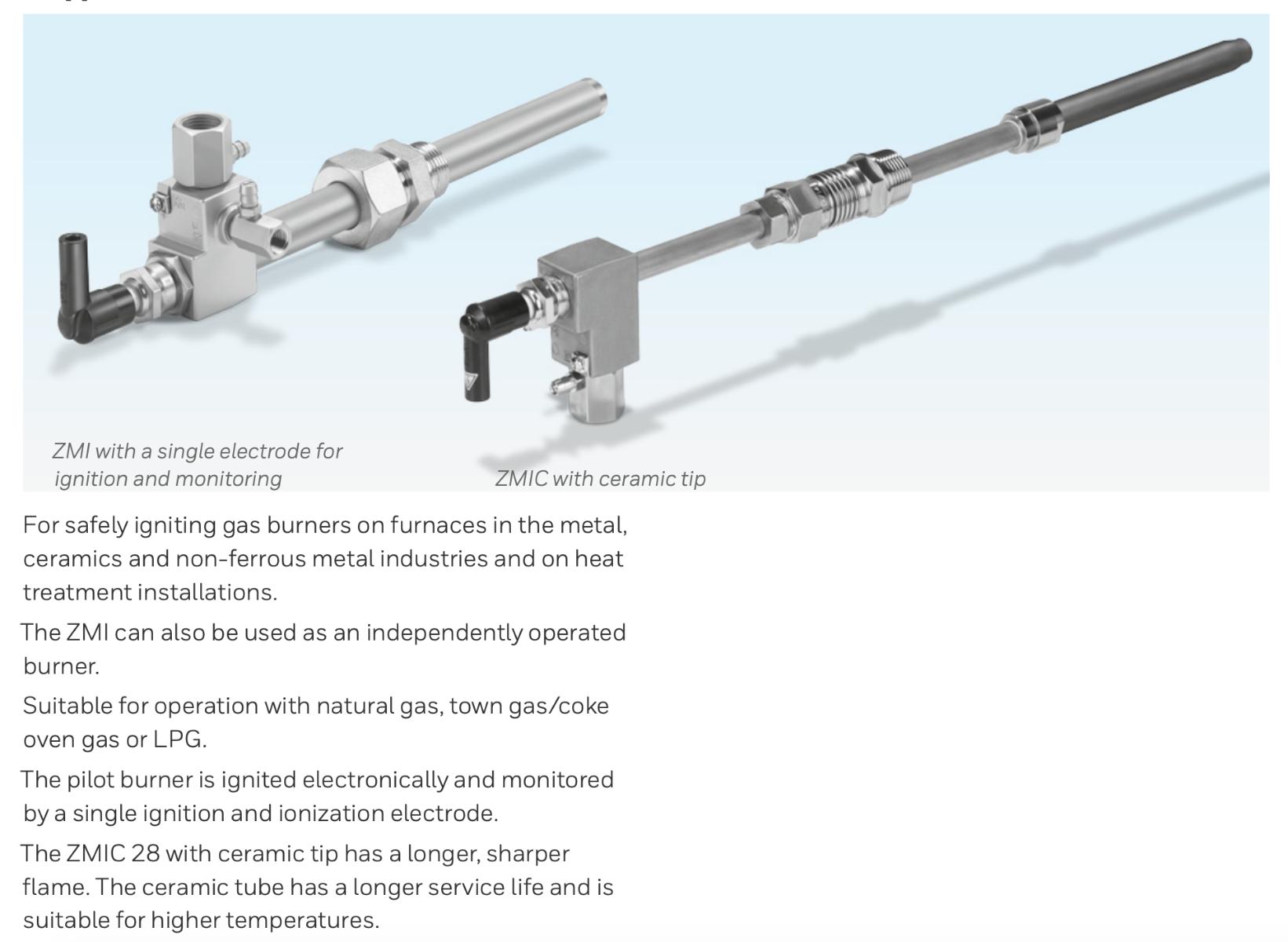 Krom Schroder Ionization pilot burner